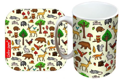 Selina-Jayne Woodland Animals Limited Edition Designer Mug and Coaster Gift Set